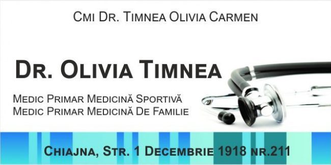 Dr. Olivia Timnea – Medicină Sportivă și Medicină de familie