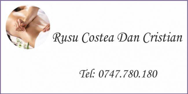 RUSU COSTEA DAN CRISTIAN  – KINETOTERAPEUT / MASEUR