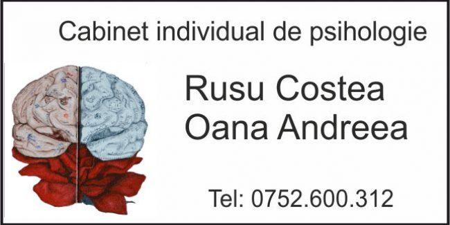 Rusu Costea Oana Andreea – Cabinet Individual de Psihologie
