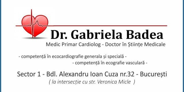 Dr. Badea Gabriela – Cardiologie